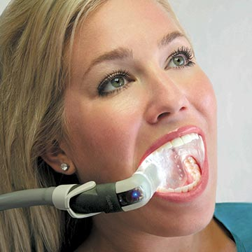 Isolite being used on dental patient