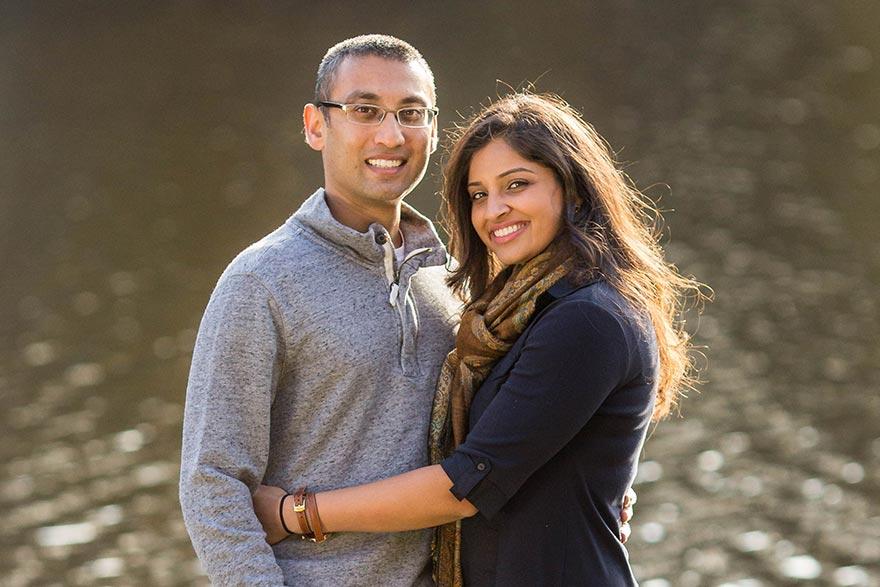 Dr. Sitaram and wife Komal