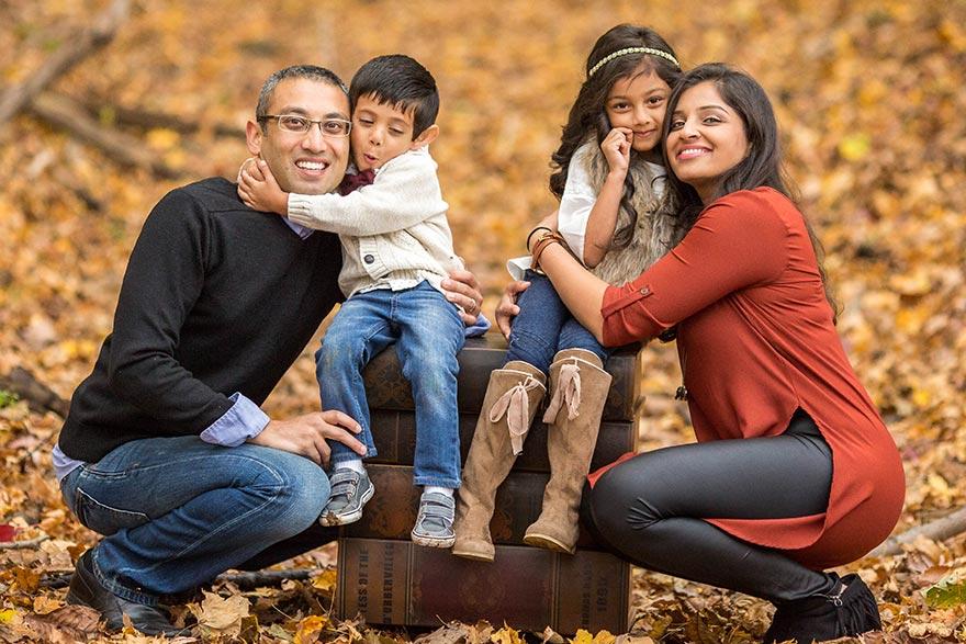 Sitaram Family Enjoying the Fall