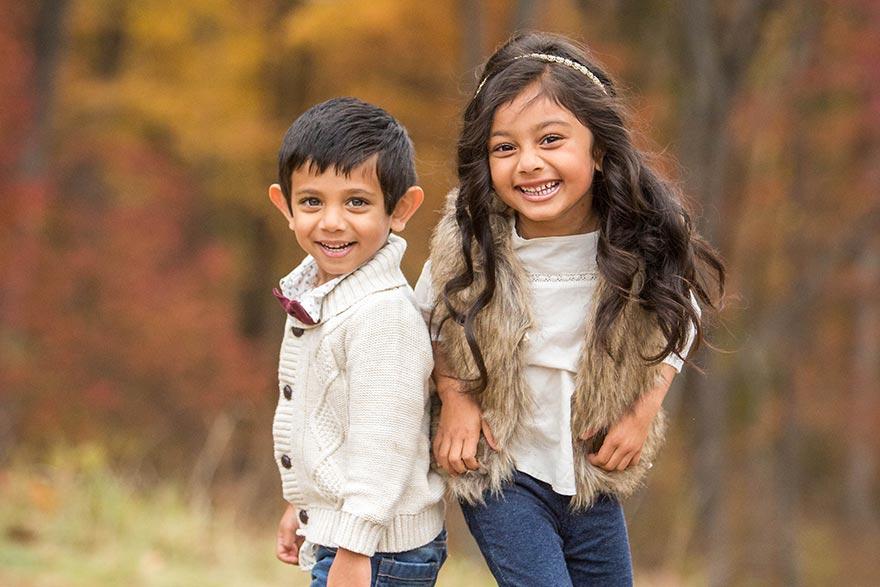 Sitaram kids posing for the camera